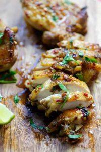 poulet grillé coriandre citron vert recette