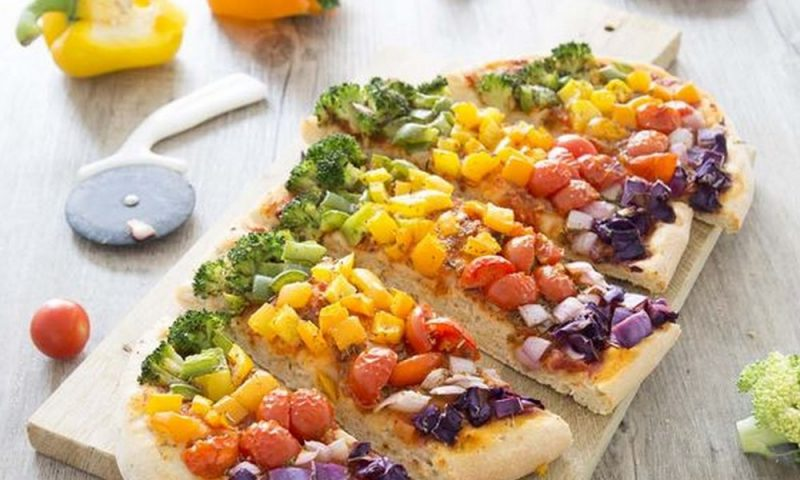 pizza arc-en-ciel