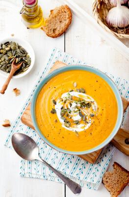 soupe à la poudre de maca