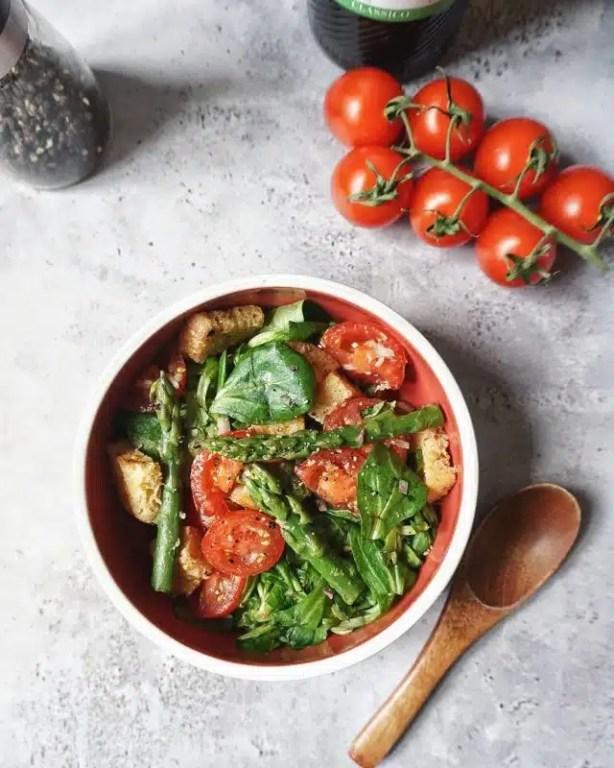 salade mâche asperges