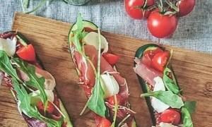 pizza aux courgettes sans pâte à pizza