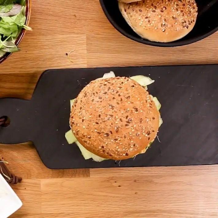 burger saumon avocat allégé en sel recette