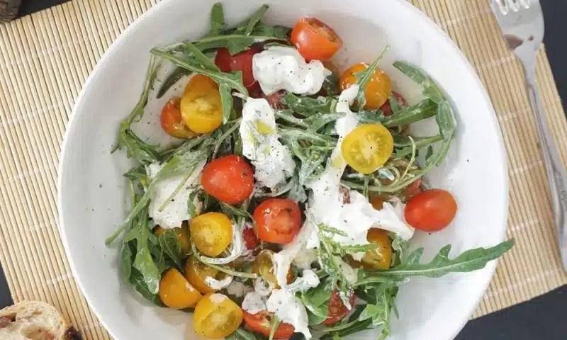 burrata aux tomates cerises recette entrée