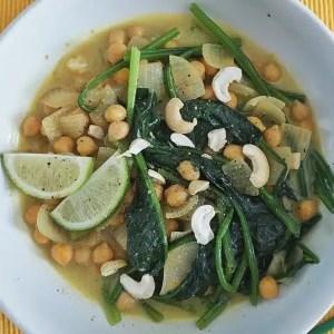 curry pois chiches épinards recette
