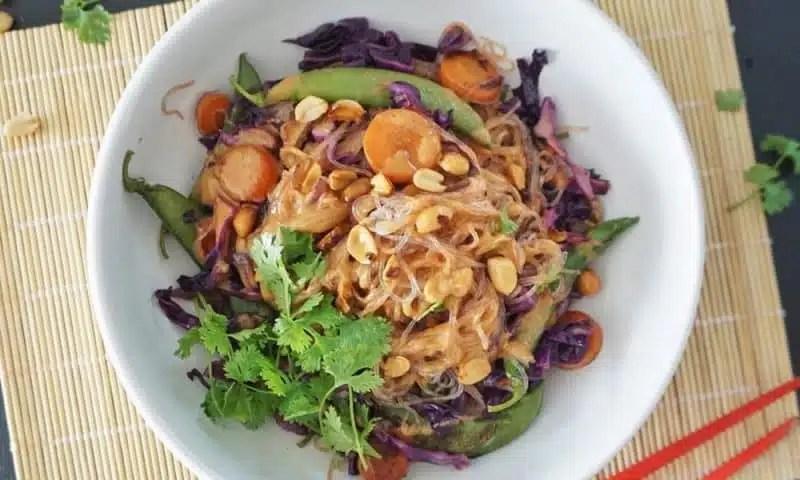 vermicelles de riz sauce cacahuètes recette