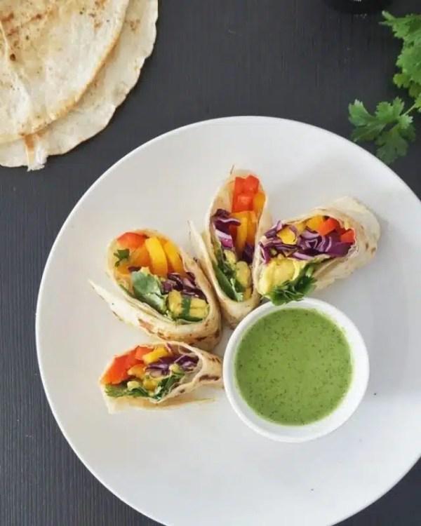 wrap de légumes