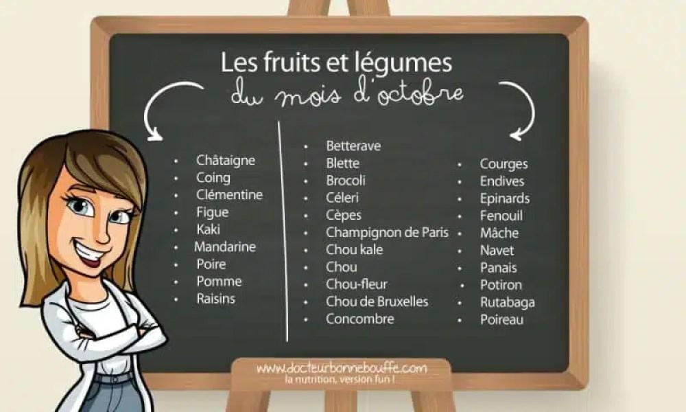 fruits et légumes octobre liste