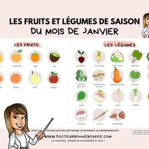 calendrier fruits et légumes de janvier