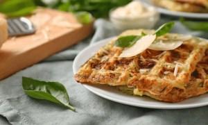 gaufres fourrées au fromage et persil