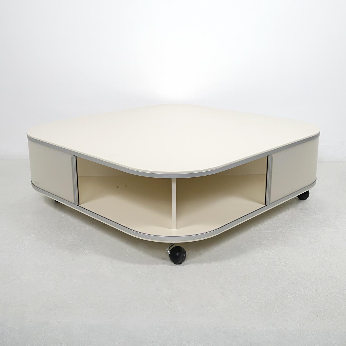 rare 1980s modern off white square