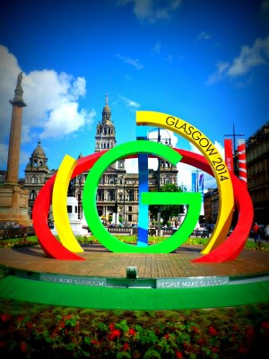 Big G in George Square Glasgow 2014 Commonwealth Games