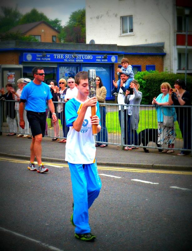 Queen's baton relay Glasgow 2014 Commonwealth Games