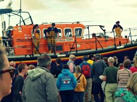 Lifeboat landing on Aldeburgh beach