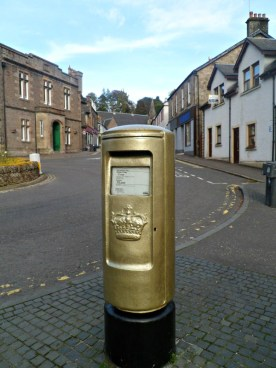 Andy Murray's gold post box in Dunblane