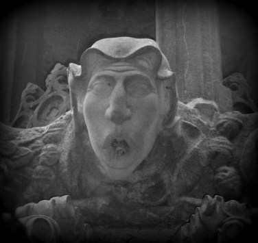 Face from fountain at Linlithgow Palace, Scotland