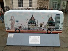 London SkyLine Bus sculpture, London