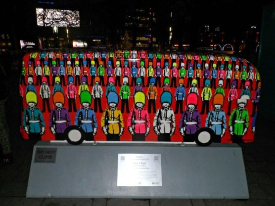 Rock n' Royal bus sculpture, London