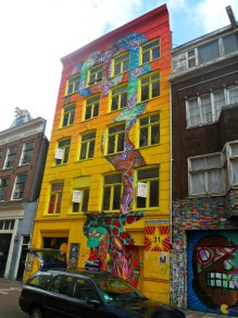 Street art on Spuistraat, Amsterdam