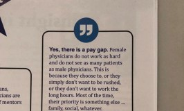Denial of Pay Gap Makes Women Physicians Roar