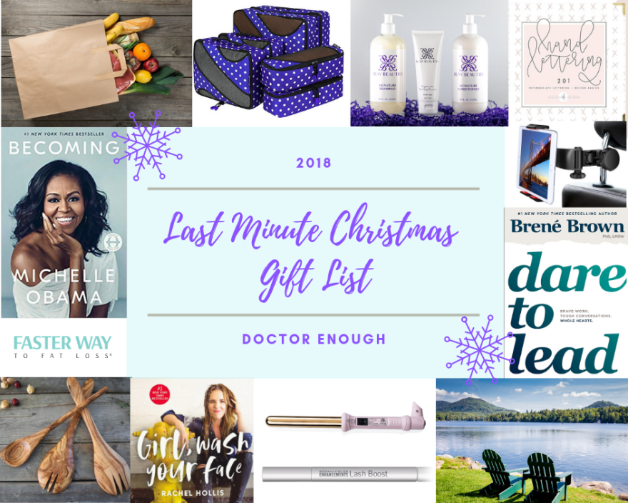 2018 Last Minute Christmas Gifts (Mostly for Her)