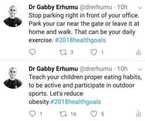 2018 health goals