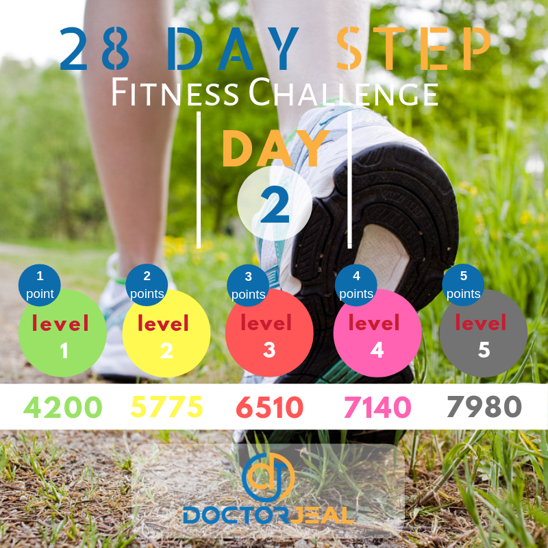 28 Day Step Fitness Challenge Day 2