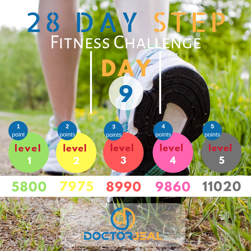 28 Day Step Fitness Challenge Day 9