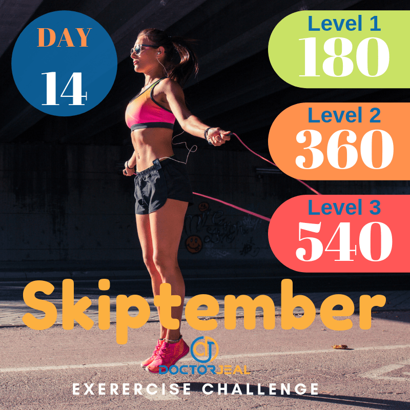 September Skipping Challenge Target Guide Day 14