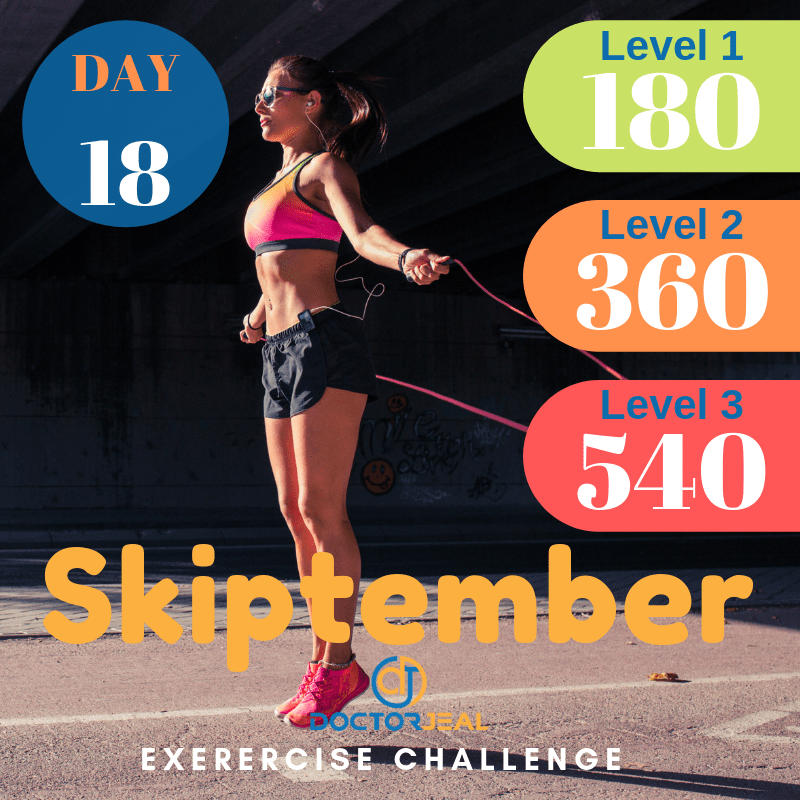 September Skipping Challenge Target Guide Day 18