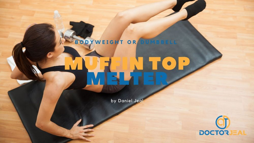 Muffin Top Melter Core Workout with Title Text