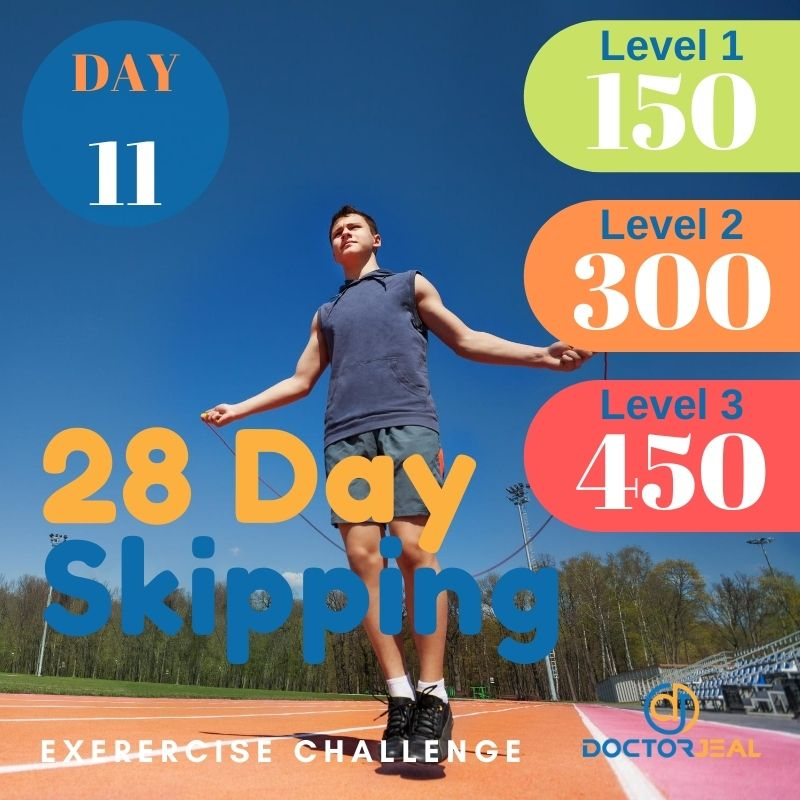 28 Day Skipping Challenge - Male Day 11