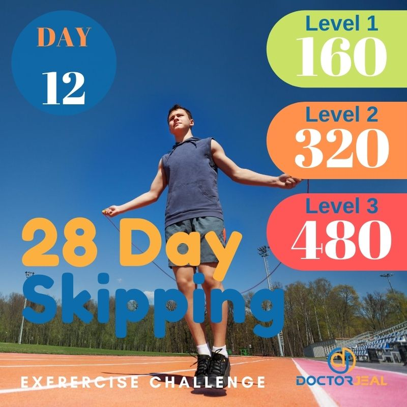 28 Day Skipping Challenge - Male Day 12