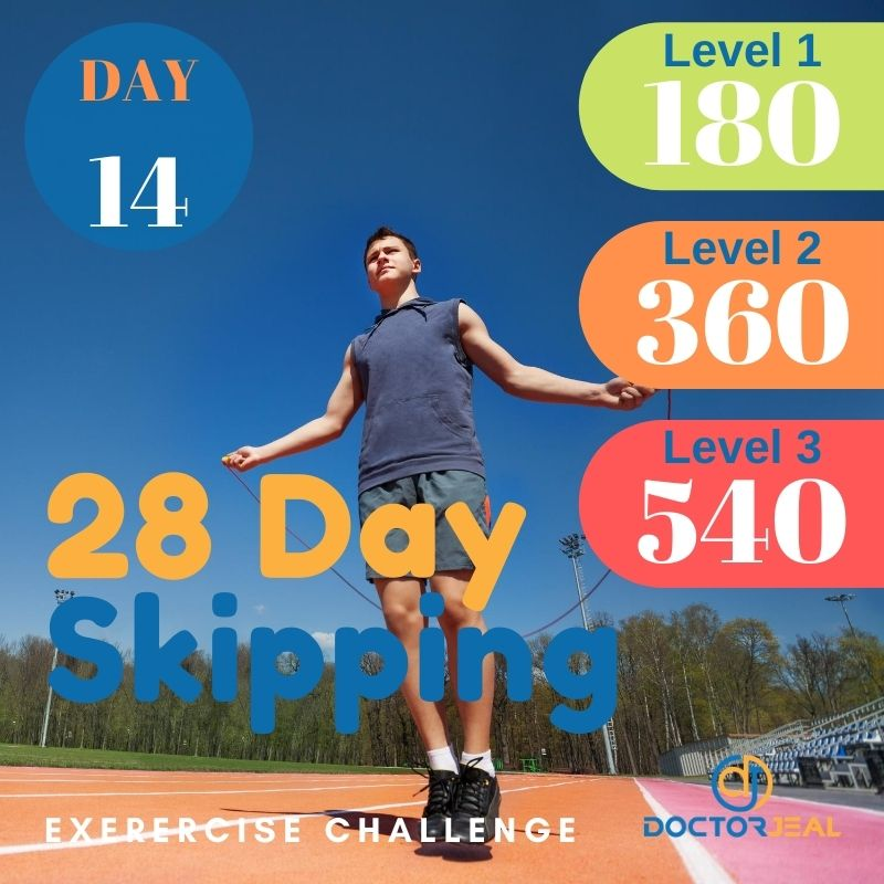 28 Day Skipping Challenge - Male Day 14
