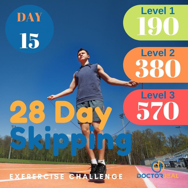 28 Day Skipping Challenge - Male Day 15