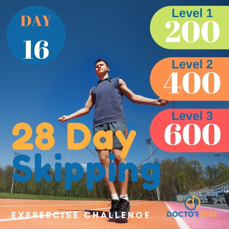 28 Day Skipping Challenge - Male Day 16