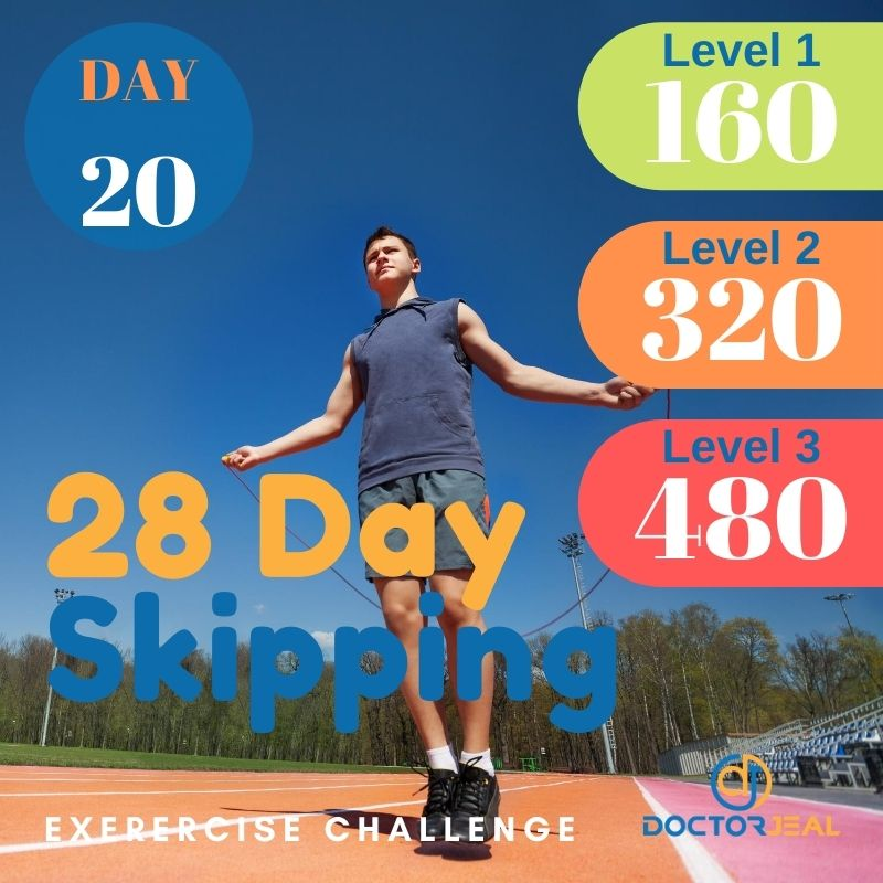 28 Day Skipping Challenge - Male Day 20