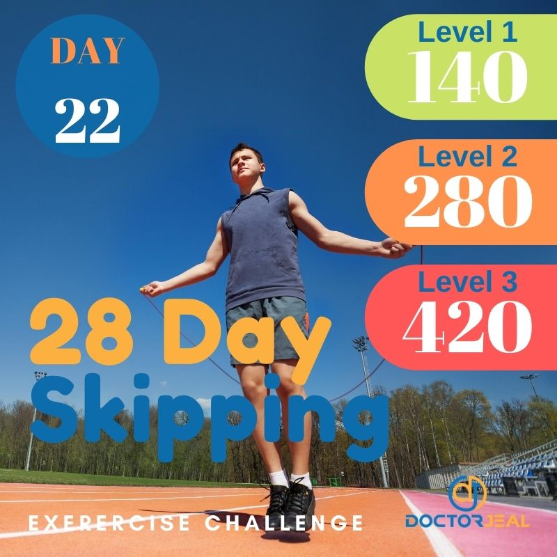 28 Day Skipping Challenge - Male Day 22