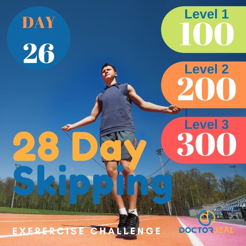 28 Day Skipping Challenge - Male Day 26