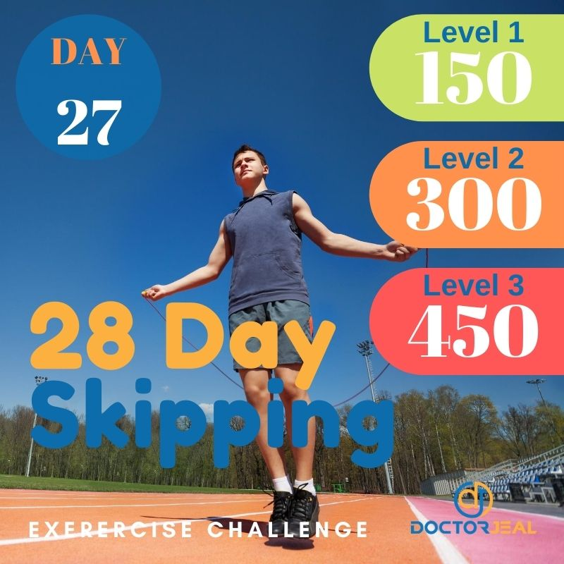 28 Day Skipping Challenge - Male Day 27