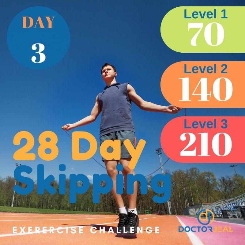 28 Day Skipping Challenge - Male Day 3