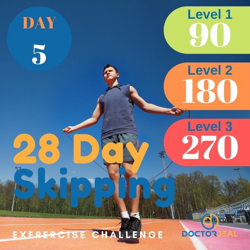 28 Day Skipping Challenge - Male Day 5