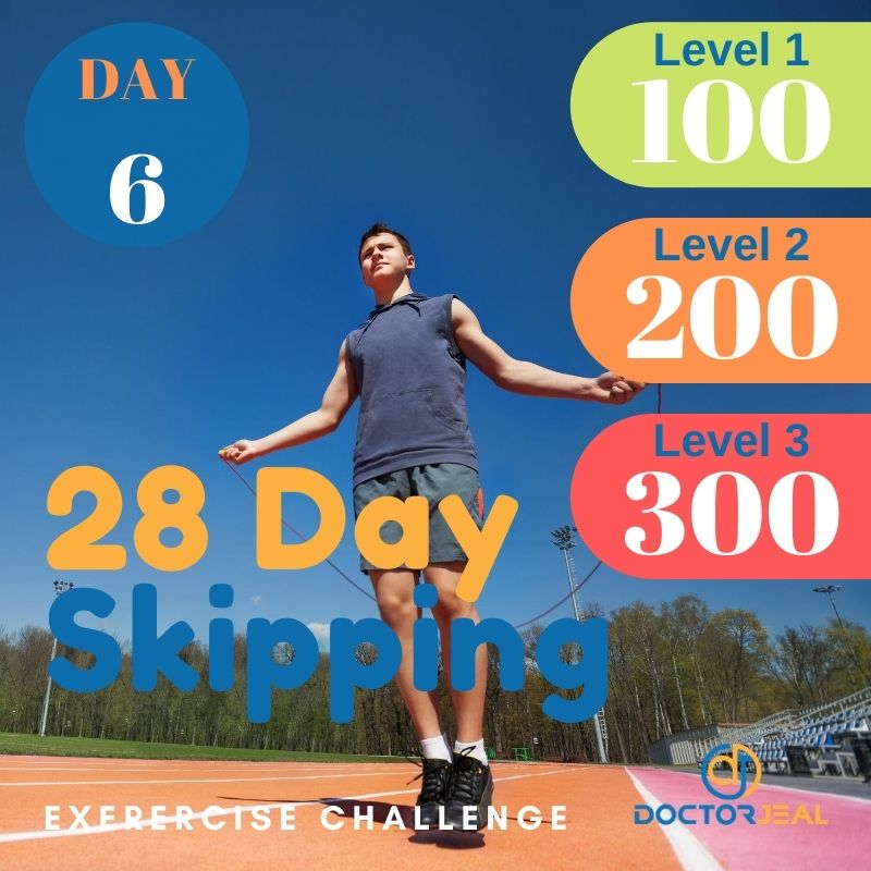 28 Day Skipping Challenge - Male Day 6