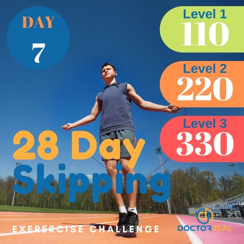 28 Day Skipping Challenge - Male Day 7
