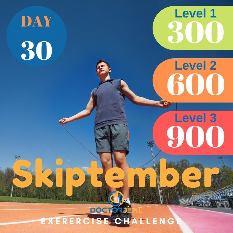 Skiptember Skipping Challenge - Male Day 30