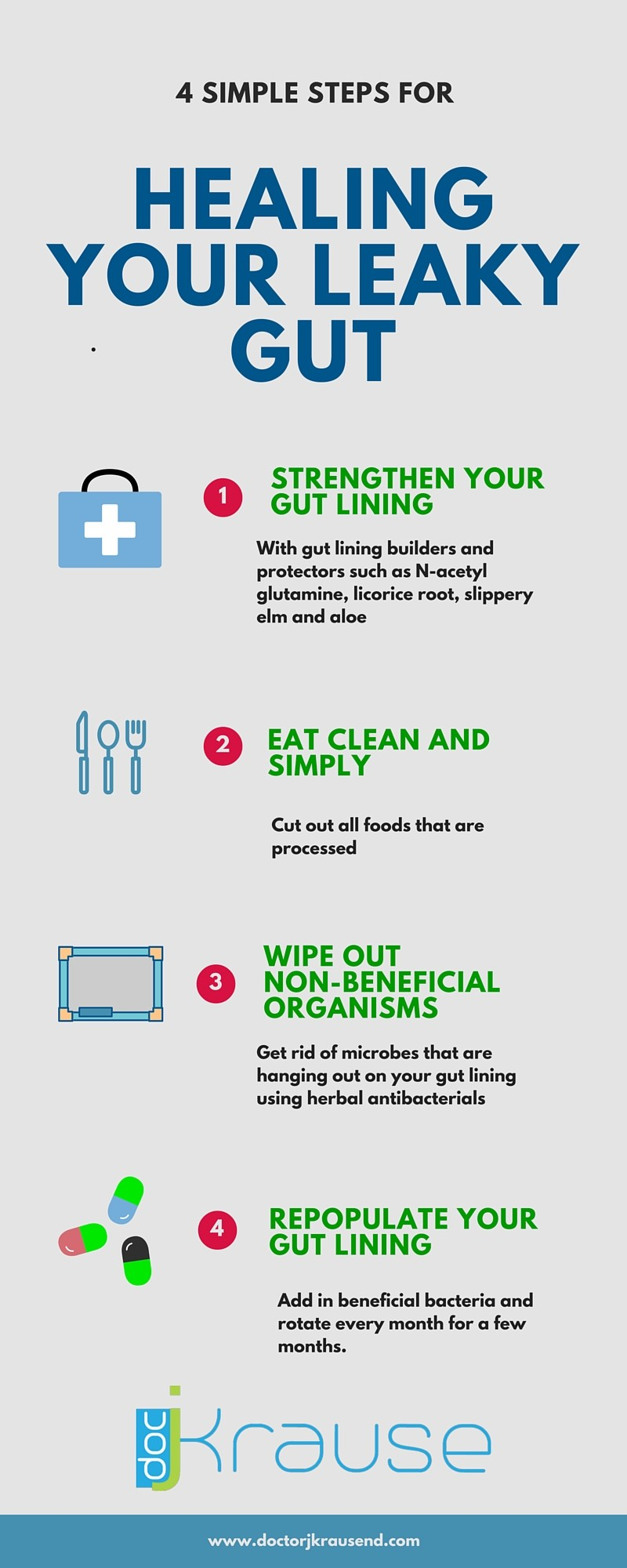 4 simple steps for healing your leaky gut