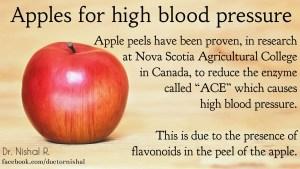 high blood pressure apples