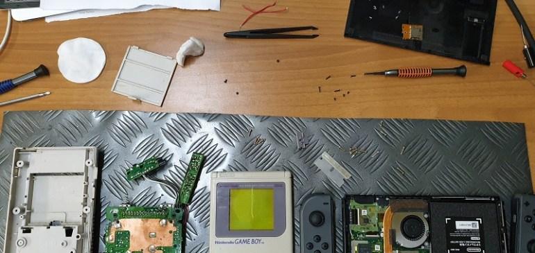 Limpieza placa GameBoy