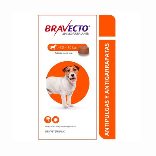 Antipulgas BRAVECTO Para perros de 4,5 a 10 KG
