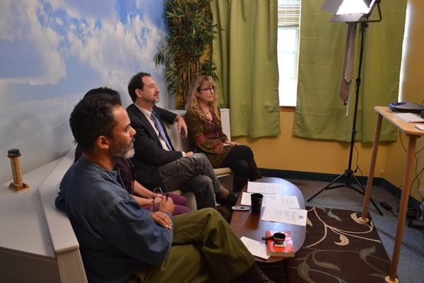 The Resolution Care team in the videoconference studio