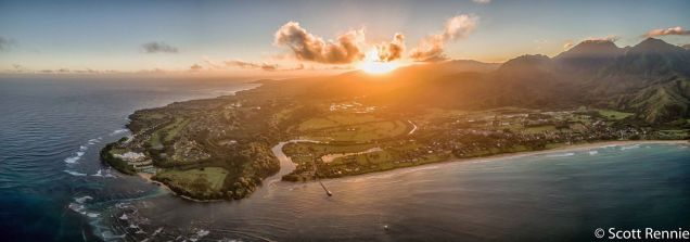 Hanalei from Helicopter